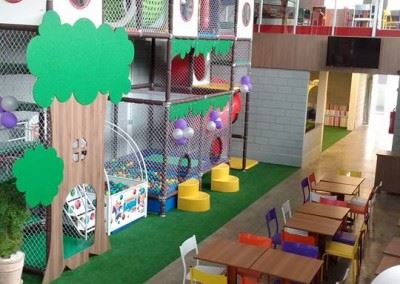 Bolhas e balões casa verde