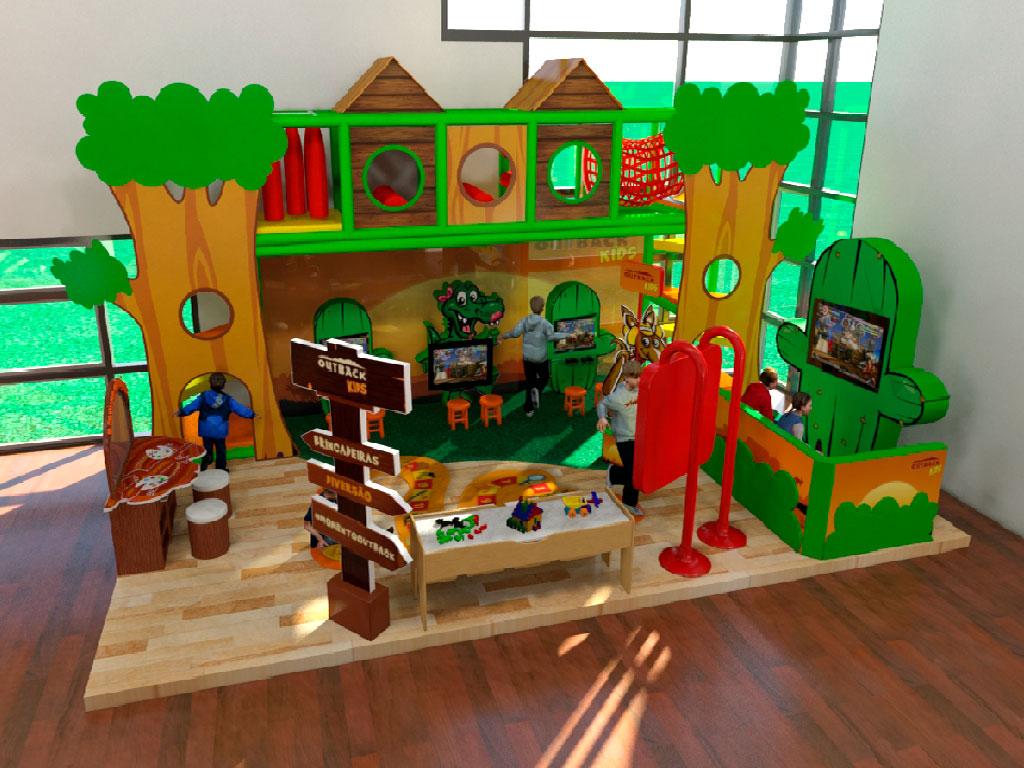 Área Kids do Restaurante Outback