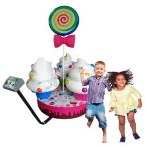 Carrossel Cupcake | Brinquedo Mecânico
