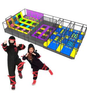 Espaço Ninja Nogueira Brinquedos | Circuito de Atividades Infantis